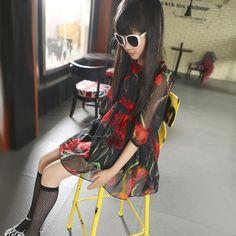$24.97 (Buy here: https://alitems.com/g/1e8d114494ebda23ff8b16525dc3e8/?i=5&ulp=https%3A%2F%2Fwww.aliexpress.com%2Fitem%2Ffashion-nova-2015-summer-chiffon-Retro-flower-pattern-baby-girls-dress-roupa-infantil-menina-suit-2%2F32431479545.html ) fashion nova 2015 summer chiffon Retro flower pattern baby girls dress roupa infantil menina suit 2~14 age teenagers girl dress for just $24.97
