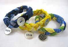 Leslie's Art and Sew: Scrappy Braided Fabric Bracelet: A Tutorial