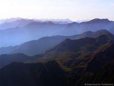 L'Ariege des del cim del Mont Valier, Midi-Pyrénées.