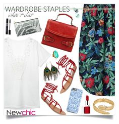 """""""Wardrobe stable _ new chic"""" by by-jwp ❤ liked on Polyvore featuring Steve Madden, Mela Artisans, Clinique, Christian Dior, NARS Cosmetics, contest, contestentry, WardrobeStaples and newchic"""