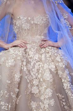 Romantic Pastel Flora Trend Elie Saab Spring Summer 2014 #couture #fashion #floral #bridal