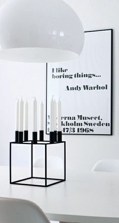 Nordic Days is a website with Scandinavian interiors where you learn everything about Scandinavian design and the latest home interior trends. Nordic Interior Design, Monochrome Interior, Tableaux Vivants, By Lassen, Scandinavian Interior, Beautiful Interiors, Interior Inspiration, House Design, Andy Warhol