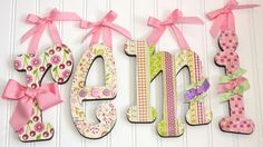 """Remi"" idea: 4 - 6"" Wood Letters - Childs Name - Wooden Letters"