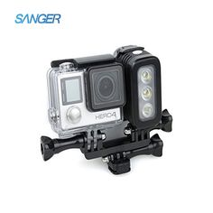 42.30$  Buy here - http://alimoh.shopchina.info/go.php?t=32653893254 - SANGER for GoPro Accessories Underwater 30M Waterproof 3 LED Diving Light Lamp for Xiaomi Yi Go Pro Hero5 4 3+ SJCAM SJ4000  #magazineonlinewebsite