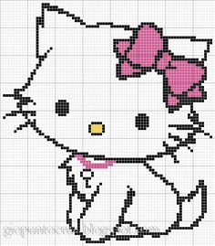 ♥ Korsstygns-Arkivet ♥: HELLO KITTY FREE CROSS STITCH PATTERN