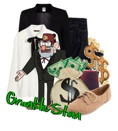 """Grunkle Stan from Gravity Falls"" by infinity-starts-with-you ❤ liked on Polyvore featuring Vintage, Avon, Vero Moda, H&M, Winden Jewelry and Charlotte Russe"