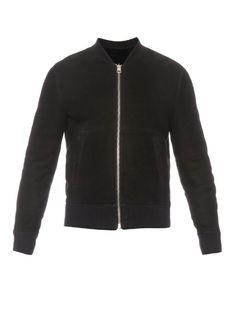 ACNE STUDIOS Otto Reversible Shearling Bomber Jacket. #acnestudios #cloth #jacket