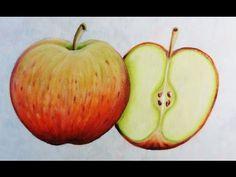 Maçãs - Aula Super Fácil - Apple painting -Pintura em Tecido - YouTube