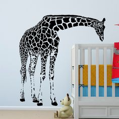 Cheap sticker home decor, Buy Quality sticker art directly from China stickers sun Suppliers: Large Giraffe Wall Decal Vinyl Sticker - Animal Series Wallpaper - Baby Bedroom Wall Art Decor - Kids Room Wall Mural Home Decor Giraffe Bedroom, Giraffe Decor, Giraffe Art, Baby Bedroom, Bedroom Wall, Wall Stickers For Baby Nursery, Wall Stickers World, Wall Murals, Wall Art Decor