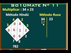 Métodos de multiplicación maya, musulmán, ruso... - YouTube Playing Cards, Education, Youtube, Games, Learning, Creativity, Fourth Grade, Multiplication Tables, Kids Math
