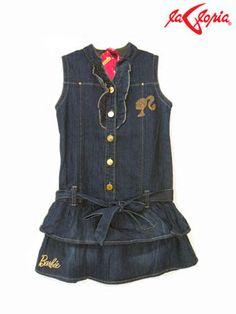 #vestido con falda de vuelos - #mezclilla - #barbie
