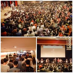 Yesterday at New Life Church, so many responded to the altar call ... even in the overflow room! God, be glorified ... Pastor Abraham Ku, senior pastor of this amazing New Life Church, closing yesterday's session in a time of prayer ...