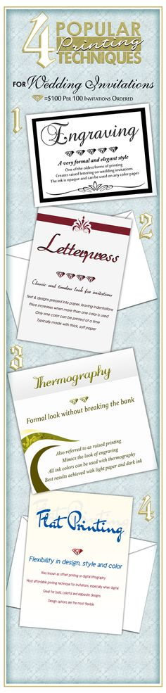 Wedding invitations -the four popular printing techniques