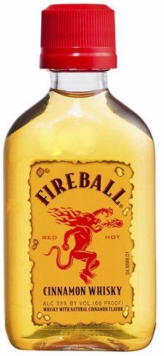Fireball Cinnamon Whisky - Available at Franklin Liquors on Pointy. Mini Liquor Bottles, Small Bottles, Dr Mcgillicuddy, Fireball Shot, Whisky, Cinnamon, Alcohol, Holiday Ideas, Food