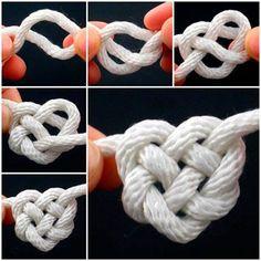 tie a Celtic heart knot.  More #DIY : @ WWW.WONDERFULDIY.COM