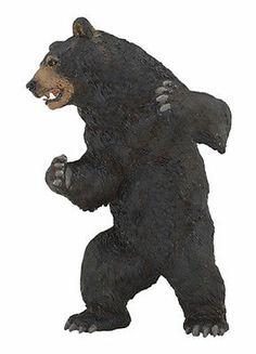 Papo 50113 Black Bear Wild Animal Figurine Model Toy Replica Gift - NIP