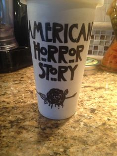 """American Horror Story """"Normal People Scare Me"""" 12 oz Double Walled Travel Mug"""