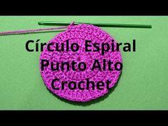 Circulo Espiral con Punto Alto en tejido crochet tutorial paso a paso. - YouTube