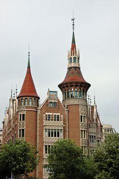 Barcelona ~ Casa Terrades... informally known as Casa de les Punxes (the points, in Catalan).