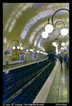 Glistening Metro station, Paris, France.  Why can't our subway stations look like this?