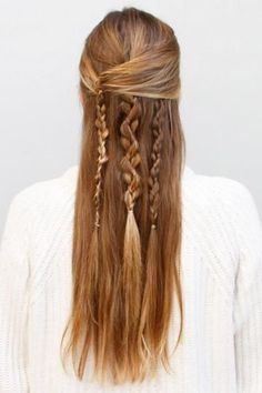 Half up with braids