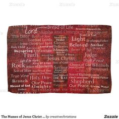 The Names of Jesus Christ From the Bible Hand Towels