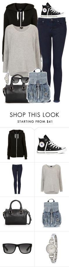"""OOTD - (super) long car ride !! x // 25.03.16"" by francesca-valentina-gagliardi ❤ liked on Polyvore featuring Converse, Topshop, MANGO, Ray-Ban and FOSSIL"