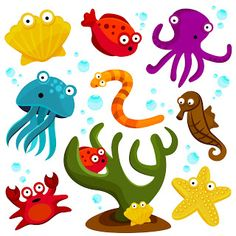 Printable sea creatures for ocean play dough | Pictures, Play ...