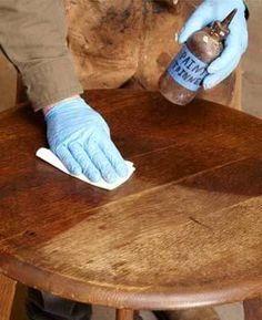 Restoring old furniture