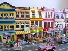 LEGO Friends Modulars step-by-step instructions Legos, Lego Village, Van Lego, Lego Friends Sets, Lego Boards, Lego Christmas, Lego Activities, Lego Craft, Lego For Kids