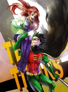 Starfire & Robin