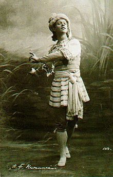 Vaslav (or Vatslav) Nijinsky was a Russian danseur and choreographer of Polish descent, cited as the greatest male dancer of the early 20th century. He grew to be celebrated for his virtuosity and for the depth and intensity of his characterizations. He could perform en pointe, a rare skill among male dancers at the time and his ability to perform seemingly gravity-defying leaps was legendary.