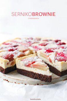 rhubarb cheesecake brownie
