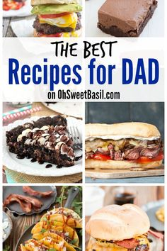 Recipes for Father's Day day dinner ideas Recipe Index - Oh Sweet Basil Most Popular Recipes, Great Recipes, Easy Recipes, Fathers Day Dinner Ideas, My Favorite Food, Favorite Recipes, Second Breakfast, Man Food, Christmas Breakfast