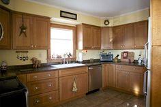 Mission kitchen cabinets oak CliqStudios.com