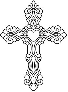 Celtic Cross Coloring Page Cross Coloring Page, Coloring Book Pages, Printable Coloring Pages, Cross Tattoo Designs, Cross Designs, Cross Drawing, Stencils, Art Quilling, Metal Embossing