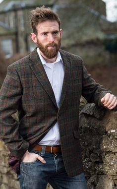 'Angus' Slim Fit Harris Tweed Jacket by Scotweb Tartan Mill