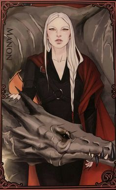 Manon & Abraxos (Embers of Memory Card Game) Throne Of Glass Characters, Throne Of Glass Fanart, Throne Of Glass Books, Throne Of Glass Series, Book Characters, Drawing Training, Fan Art, Queen Of Shadows, Crown Of Midnight