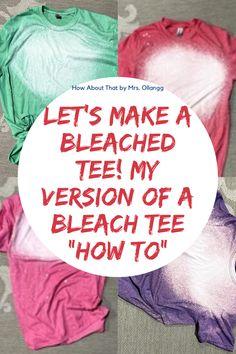 Bleach Spray Shirt, Bleach Tie Dye, How To Bleach Shirts, Tye Dye, Diy Tie Dye Shirts, T Shirt Diy, Diy Tie Dye Designs, Shirt Designs, Diy Tie Dye Techniques