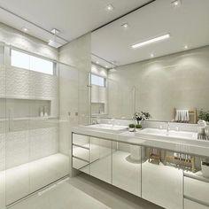 Home - House of the Future Bathroom Inspo, Bathroom Layout, Bathroom Interior Design, Bathroom Inspiration, White Bathroom, Modern Bathroom, Small Bathroom, Master Bathroom, Shower Shelves