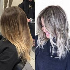 Image result for grow out blonde dyed hair gray