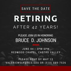 Save the Date! RCS Superintendent retiring. In lieu of gifts, donations may be made to the RCS Gym Project.