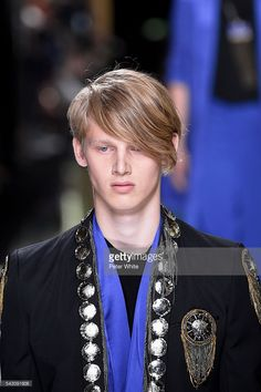 A model, beauty details, walks the runway during the Balmain Menswear Spring/Summer 2017 show as part of Paris Fashion Week on June 25, 2016 in Paris,  #balmainarmy #BALMAINSS17, #PFW, #olestirnberg #parisfashionweek #eliteboysdoitbetter #elitecopenhagen  @elite_copenhagen, #Malemodel, #elitemodel, #fashionweek, #Ole, #Stirnberg, #models, #fashion, #fashionista, #fashionphotography, #mensfashion,  www.instagram.com/olestirnberg/