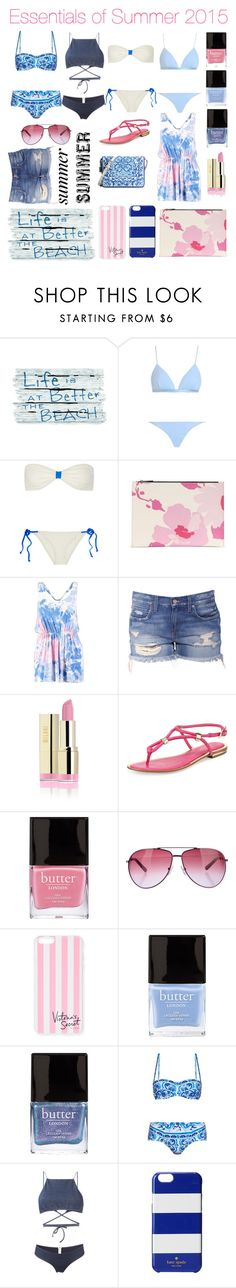 """""""Essentials of Summer 2015"""" by nausicaa12 ❤ liked on Polyvore featuring Zimmermann, Solid & Striped, Victoria Beckham, Boohoo, Michael Kors, Butter London, STELLA McCARTNEY, Victoria's Secret, Dolce&Gabbana and Ack"""