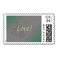 Pastel lila rose on mint and silver grey wedding stamps