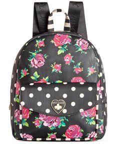 Betsey Johnson Medium Floral Backpack