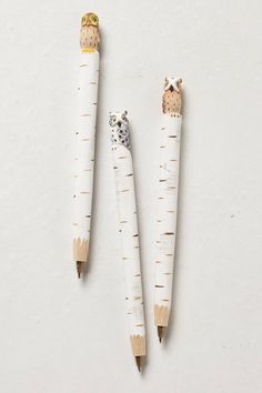 Hand-Carved Owl Pen - anthropologie.eu