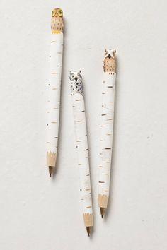 Hand-Carved Owl Pen - anthropologie.eu