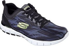Skechers Mens Relaxed Fit SkechFlex Hitting Streak Lace UpBlackWhiteUS 95 *** Be sure to check out this awesome product.