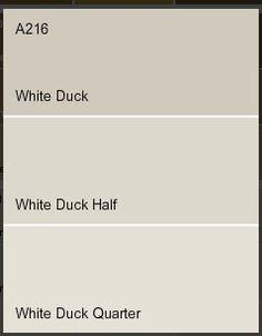 Dulux white duck paint